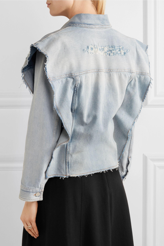MM6 Maison Margiela Convertible distressed denim jacket
