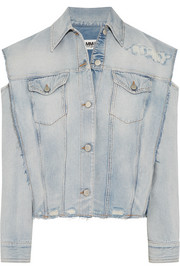 MM6 Maison Margiela Convertible distressed denim jacket