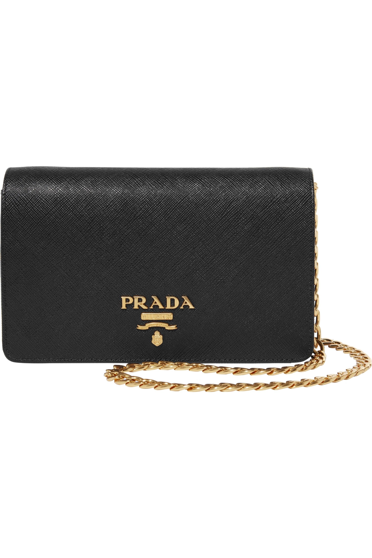 Prada Textured-leather shoulder bag