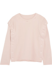 Convertible cotton-jersey sweater