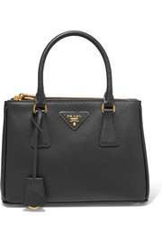Galleria mini textured-leather tote