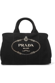Prada Giardiniera large printed canvas tote
