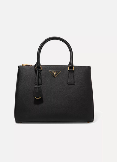 Prada - Galleria Large Textured-leather Tote - Black at NET-A-PORTER