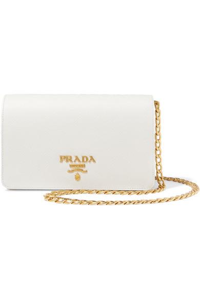 Prada - Textured-leather Shoulder Bag - White