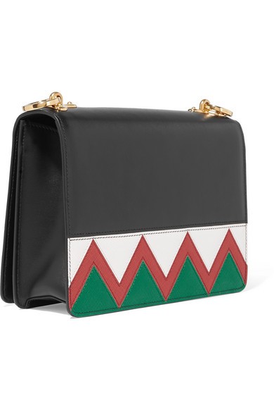 Prada   Zig Zag leather shoulder bag   NET-A-PORTER.COM