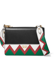Zig Zag leather shoulder bag