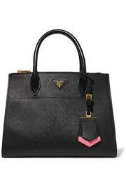 Prada Paradigme textured-leather tote