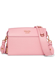 Prada Esplanade smooth and textured-leather shoulder bag