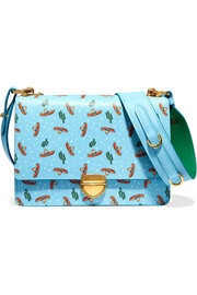 Prada Printed textured-leather shoulder bag