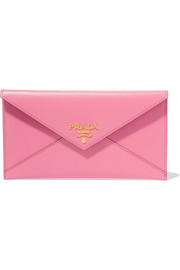 Envelope textured-leather wallet