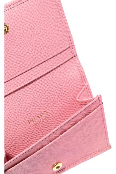 Textured-leather Cardholder - Pink Prada 9BUQUHnf73