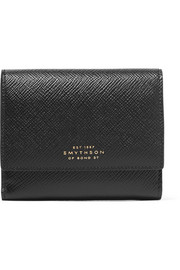 Panama textured-leather wallet