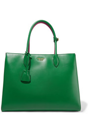 Prada Bibliothèque large color-block leather tote