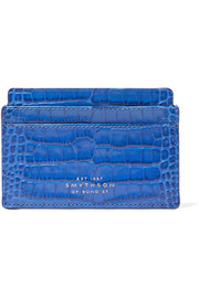 Smythson Mara croc-effect leather cardholder