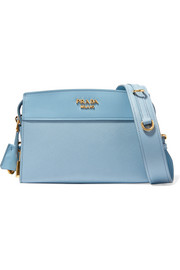 Prada Esplanade small smooth and textured-leather shoulder bag