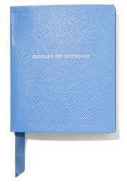 Smythson Premier Oodles Of Doodles textured-leather notebook