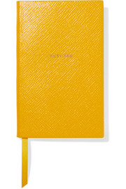 Panama Busy Bee textured-leather notebook