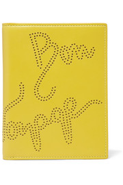 Piccadilly perforated leather passport cover