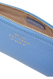 Panama textured-leather pencil case