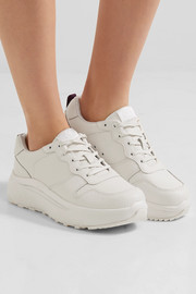 Jet Tumbled textured-leather sneakers