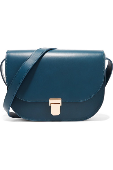 A.P.C. Atelier de Production et de Création - Vienne Leather Shoulder Bag - Midnight blue