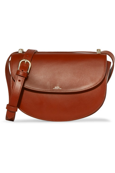 A.P.C. Atelier de Production et de Création - Geneve Leather Shoulder Bag - Brown