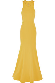 Breakers bow-embellished stretch-crepe gown