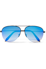Victoria Beckham Aviator-style metal mirrored sunglasses