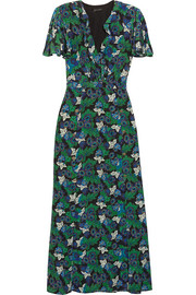 Josee printed silk-crepe maxi dress
