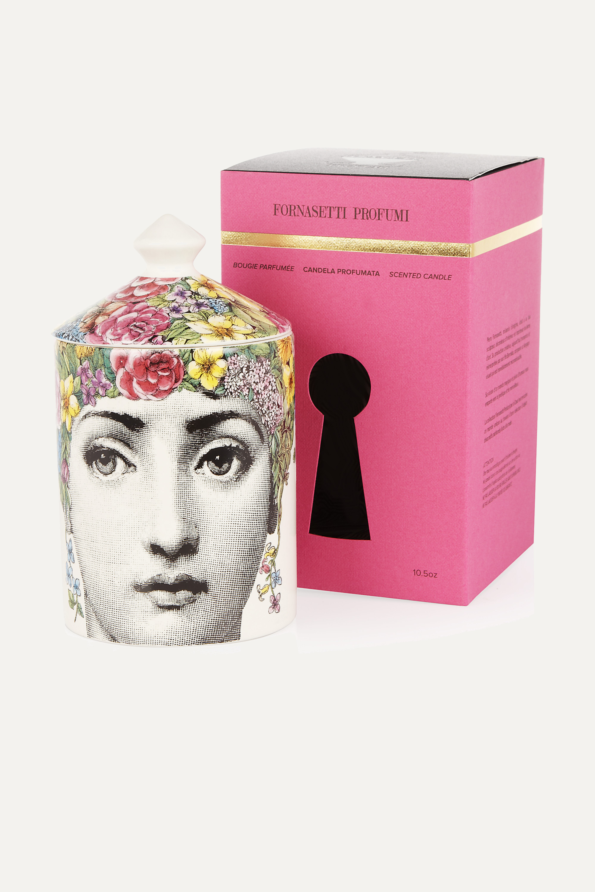 Fornasetti Flora scented candle, 300g