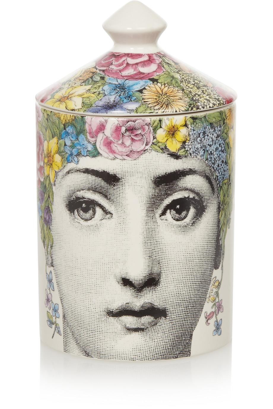 Fornasetti Flora White Rose, Jasmine and Sandalwood scented candle, 300g
