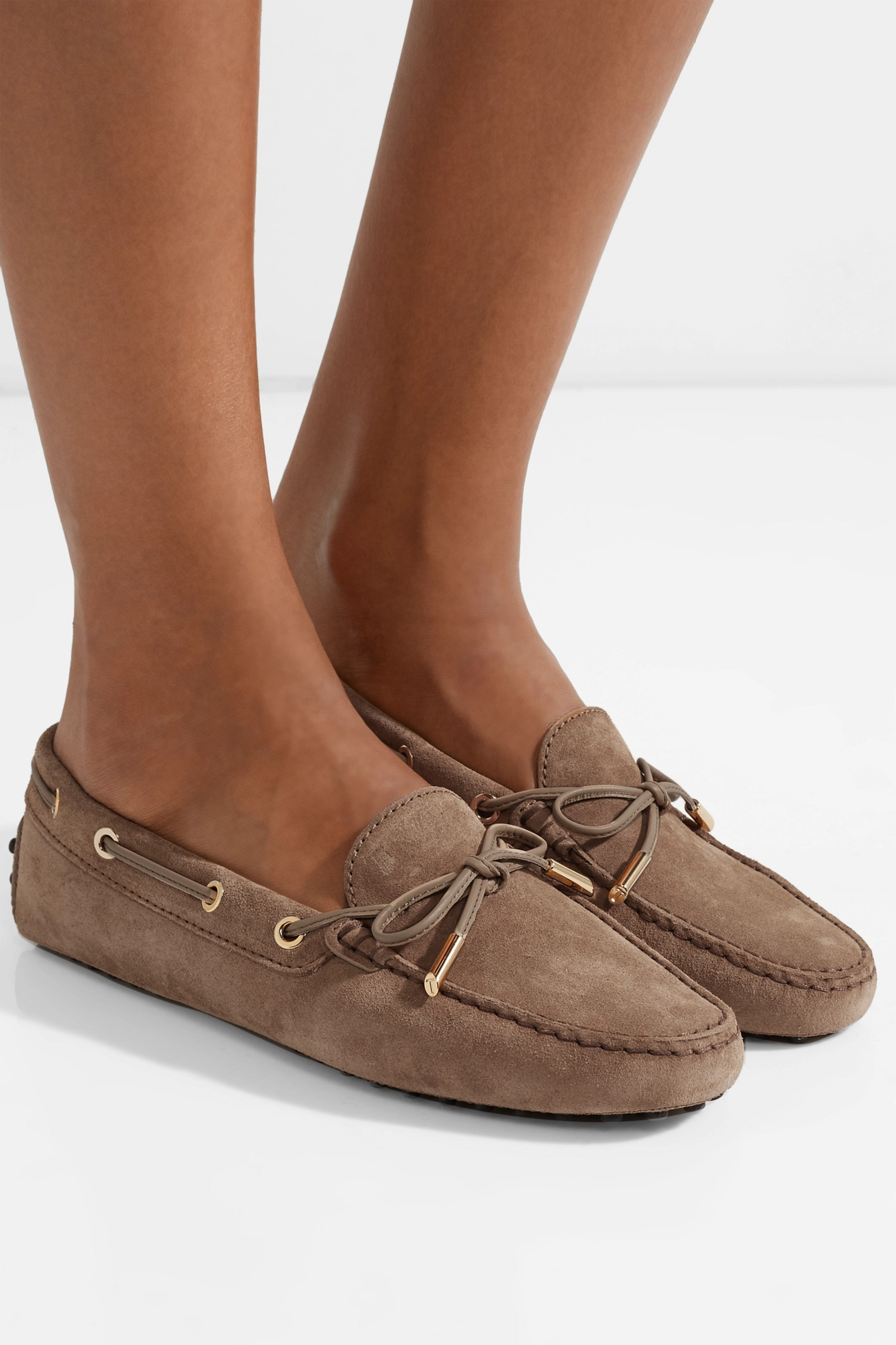 Beige Gommino suede loafers | Tod's