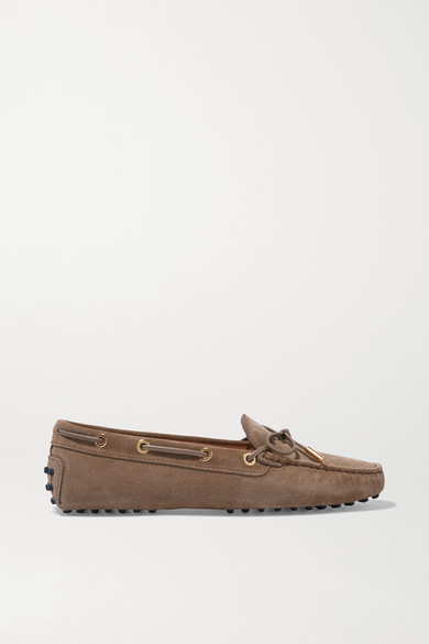 Gommino Suede Loafers in Beige