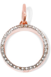 Naida Circle rose gold-plated diamond pendant