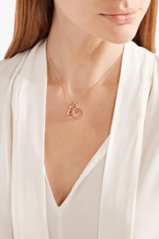 Monica Vinader Naida Circle rose gold vermeil diamond pendant