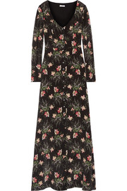 Evie printed silk crepe de chine gown