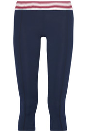Nusa stripe-trimmed stretch-jersey leggings