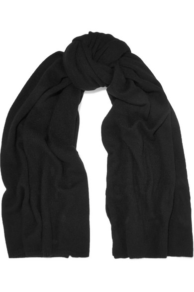 The Elder Statesman - Super Blanket Cashmere Scarf - Black