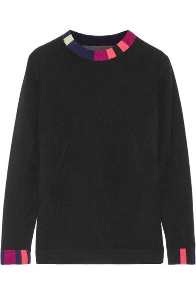 The Elder Statesman - Lego Striped Cashmere Sweater - Black