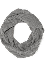 The Elder Statesman Infinity ribbed-knit cashmere scarf