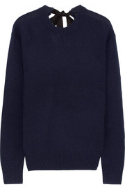 Tie-back cashmere sweater
