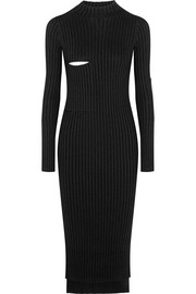 Bethany ribbed-knit midi dress