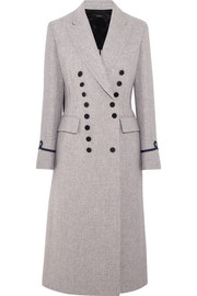 New Jacky appliquéd wool-blend coat