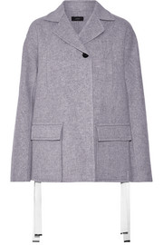 Caplan split-side wool and cashmere-blend coat