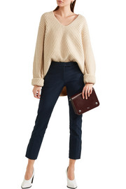 Finley cropped stretch-gabardine slim-leg pants