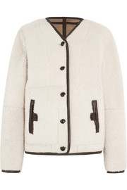 Leigh reversible shearling jacket