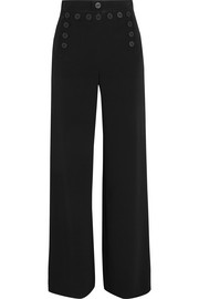 Portland lace-up crepe wide-leg pants