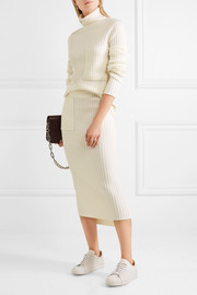 Joseph Ribbed-knit skirt