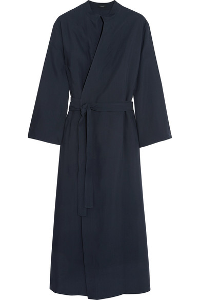 Joseph - Laurence Crepe Wrap Midi Dress - Midnight blue