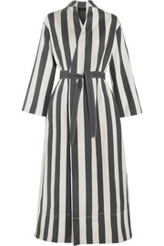Joseph Laurence striped cotton and silk-blend wrap dress